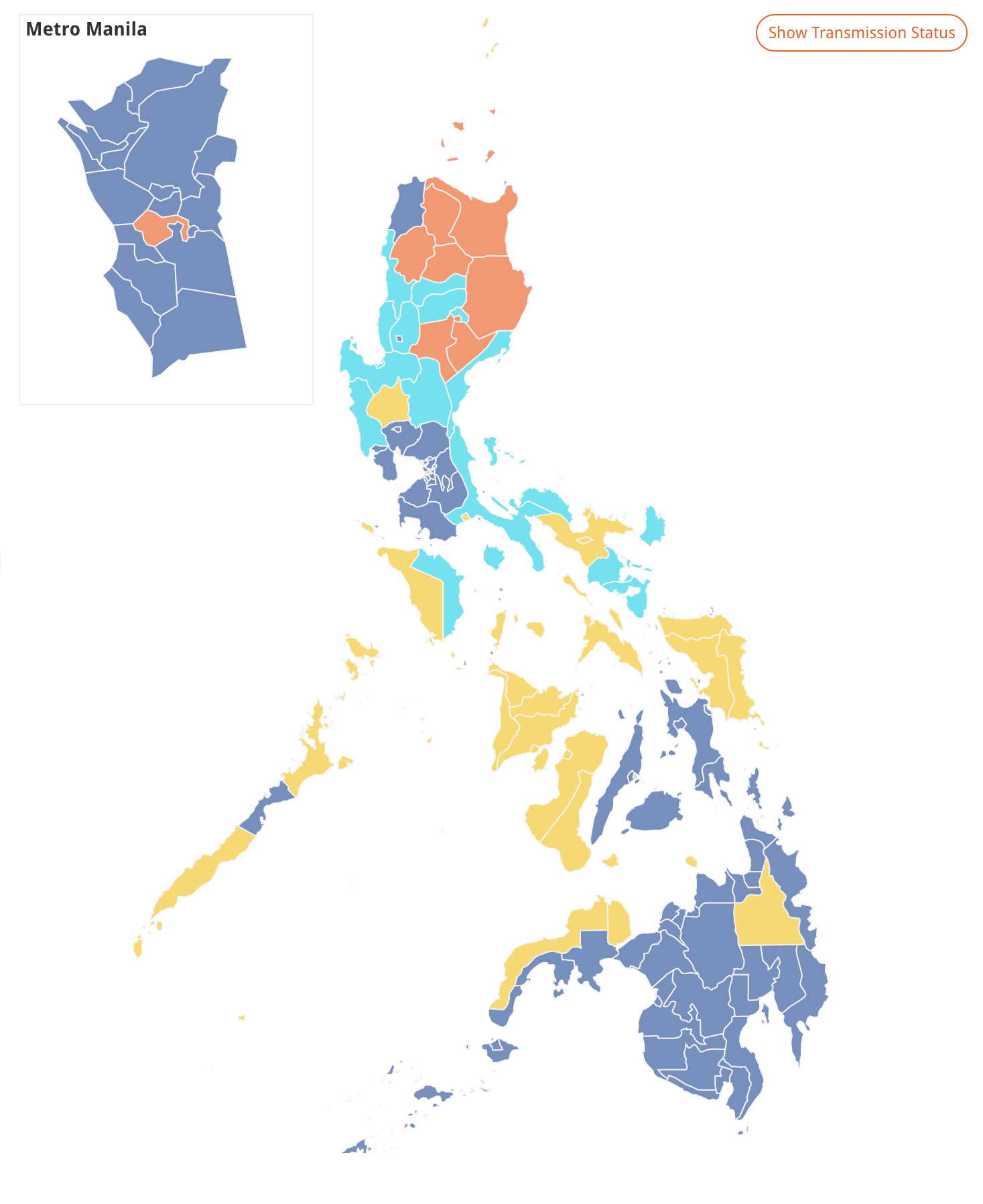 In This Geographic Map The Color Represents The Candidate Who Received The Most Number Of Votes In The Province Or City The Problem Is That The Geographic