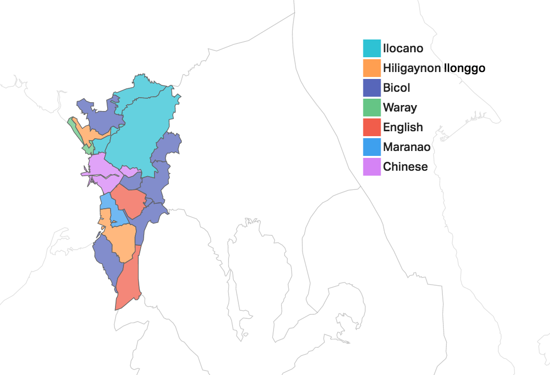 The Language Landscape Of The Philippines In Maps - English language map