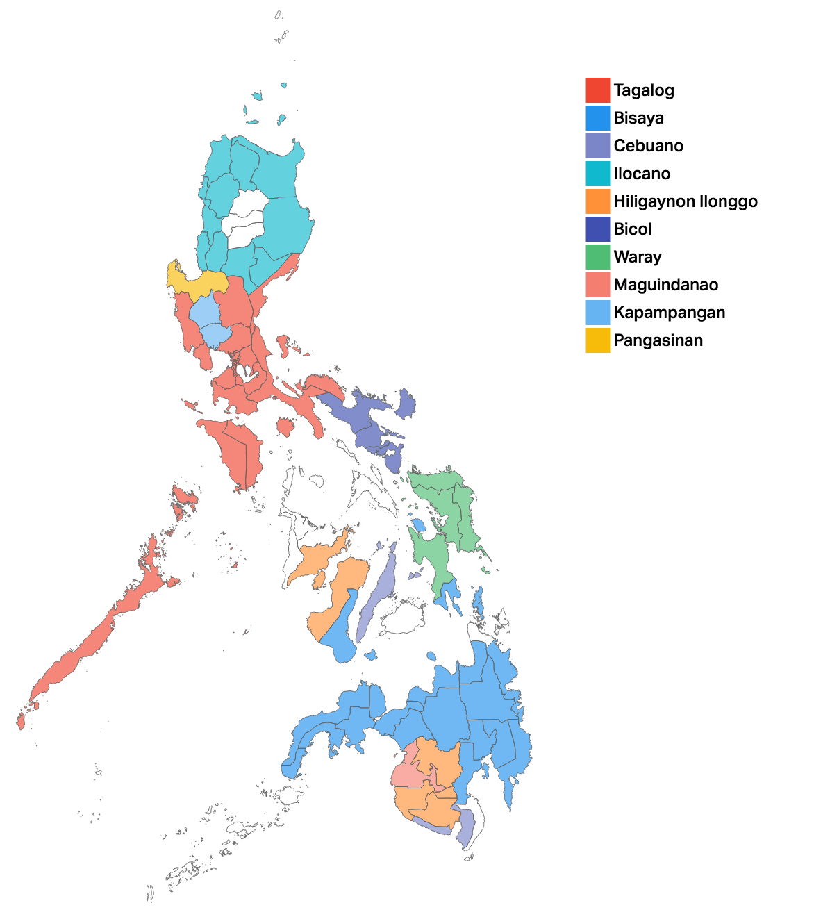 of filipinos speak one of  languages. the language landscape of the philippines in  maps
